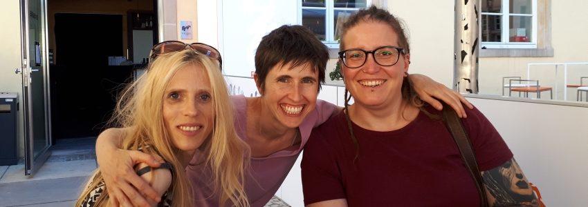 (v.l.n.r.) Sophie Reyer, Ainhoa Achutegui, Désirée Wickler (Photo: Claudio Minelli)